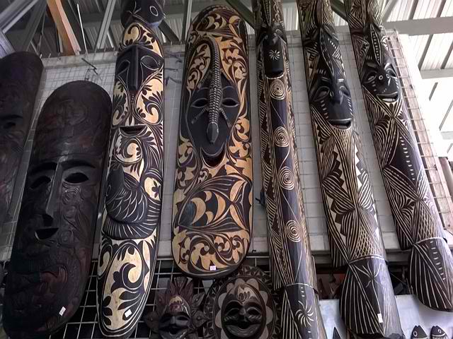 Elongated Mask Palawan Wood Carvings