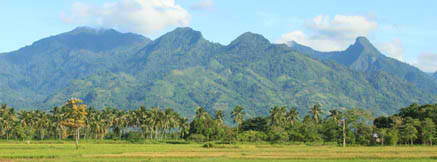 Mt. Matalingahan seen from Brookes Point Palawan