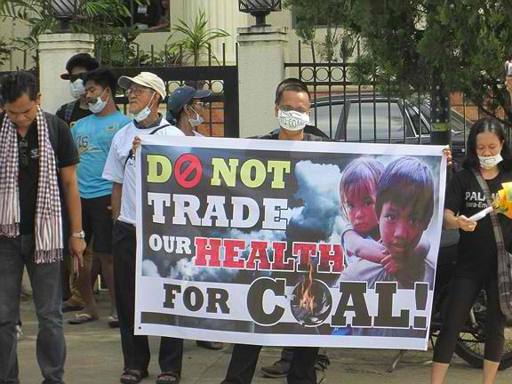 Anti coal-fired-power-plant rally