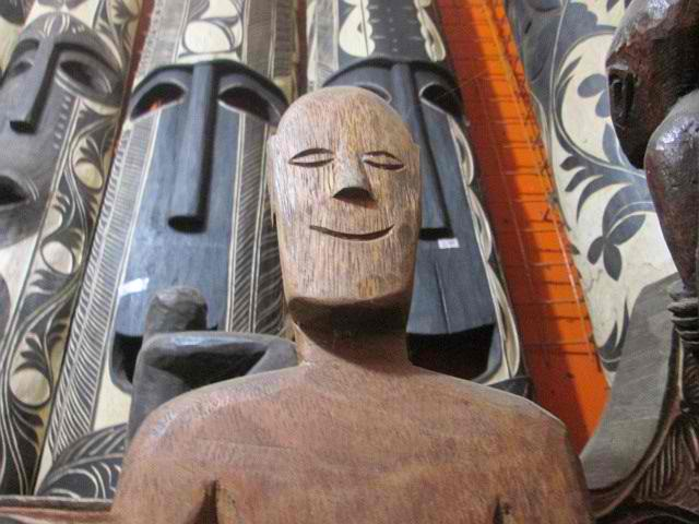 palawan wood carving man smiling