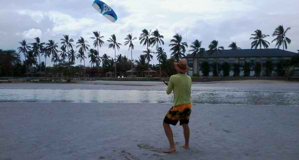 Kite Steering Training for Kite Boarding.