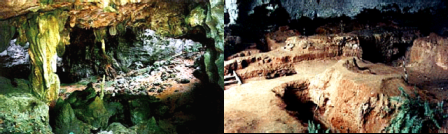 Frontage and Inside Tabon Cave