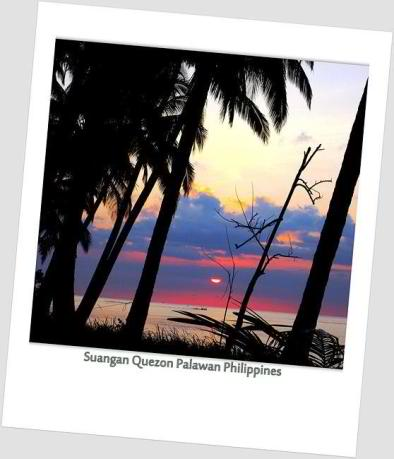 Sunset in Sowangan Quezon Palawan