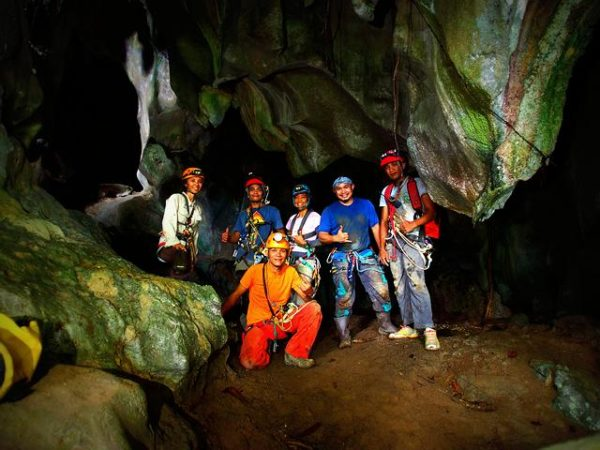 Caving in Palawan Philippines