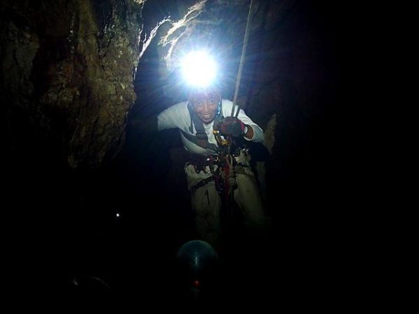 Rappelling at Hundred Caves Adventure